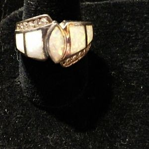 ~STUNNING~VERY OLD~925 STERLING RING 7.5